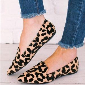 5⭐️TAN LEOPARD Slip-On pointed toe ballet- Shoe